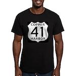 Copper Harbor 41 Men's Fitted T-Shirt (dark)