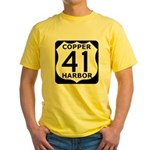 Copper Harbor 41 Yellow T-Shirt