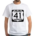 Copper Harbor 41 White T-Shirt