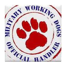 USCG Working Dogs Tile Coaster
