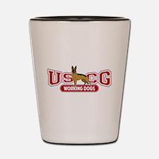 USCG Working Dogs Shot Glass