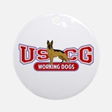 USCG Working Dogs Ornament (Round)