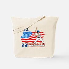 All American BaseBall player Tote Bag