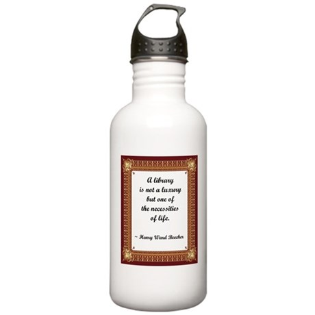 A Little Library Stainless Water Bottle 1.0L