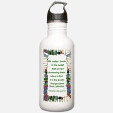 Walter Benjamin on Books Water Bottle