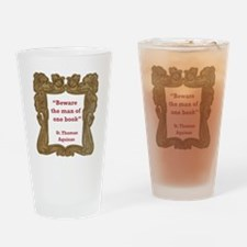Man of One Book Drinking Glass