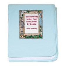 Surrounded By Books baby blanket