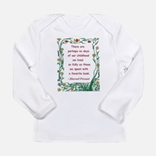 Childhood Spent With A Book Long Sleeve Infant T-S