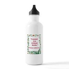 Thomas Jefferson on Books Water Bottle