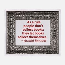 Book Collecting Throw Blanket