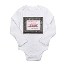 Bradbury on Books Long Sleeve Infant Bodysuit