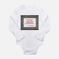 Bradbury on Books Long Sleeve Infant Bodysuit