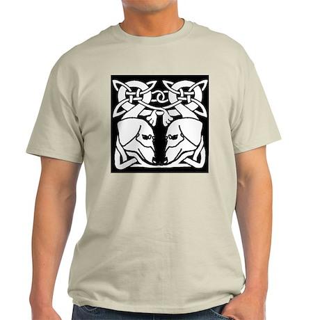 Irish Celtic Dachshund Dogs 8 Ash Grey T-Shirt