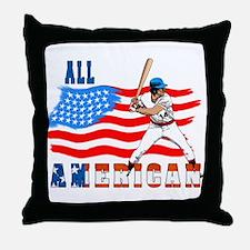 All American BaseBall player Throw Pillow
