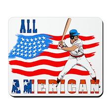 All American BaseBall player Mousepad
