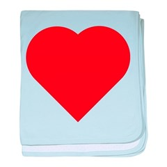 Plain Red Love Heart Symbol baby blanket