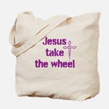 Jesus Take the Wheel Tote Bag