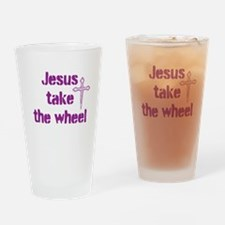 Jesus Take the Wheel Drinking Glass
