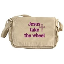 Jesus Take the Wheel Messenger Bag