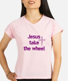 Jesus Take the Wheel Performance Dry T-Shirt