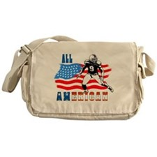 All American Football player Messenger Bag