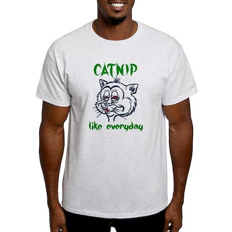 High Stoned Catnip Cat Light T-Shirt