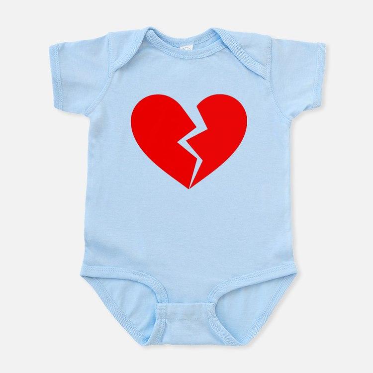 Red Broken Heart Symbol Infant Bodysuit