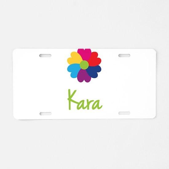 Kara Valentine Flower Aluminum License Plate