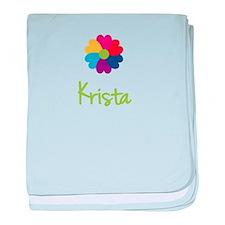 Krista Valentine Flower baby blanket