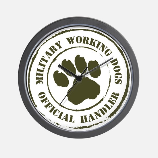 Army Working Dogs Wall Clock