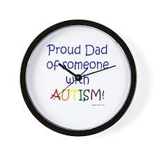 """Proud Dad"" Wall Clock"