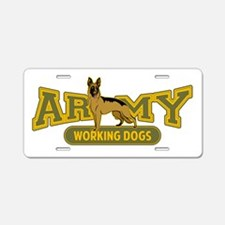 Army Working Dogs Aluminum License Plate