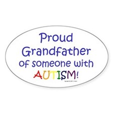 """proud Grandfather"" Oval Decal"