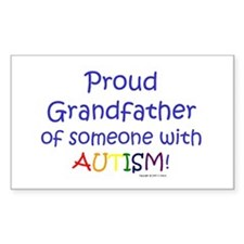 """""""Proud Grandfather"""" Sticker (Rect)"""