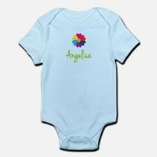 Angelica Valentine Flower Infant Bodysuit