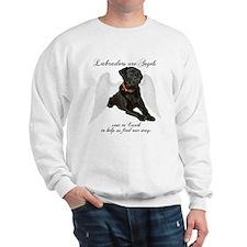 Black Lab Angel Sweatshirt