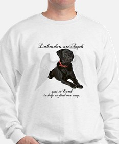 Black Lab Angel Sweatshirt