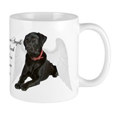 Black Lab Angel Mug