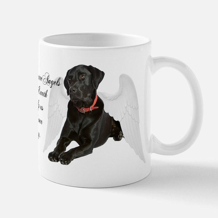 Black Lab Angel Mug