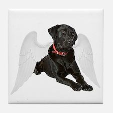 Black Lab Angel Tile Coaster
