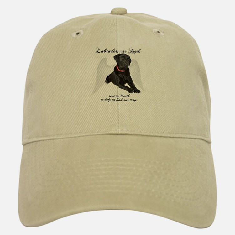 Black Lab Angel Baseball Baseball Cap