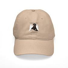 Black Lab Angel Baseball Cap