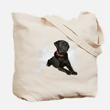 Black Lab Angel Tote Bag