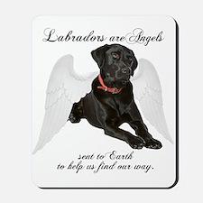 Black Lab Angel Mousepad