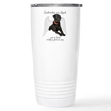 Black Lab Angel Travel Mug