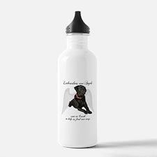 Black Lab Angel Water Bottle