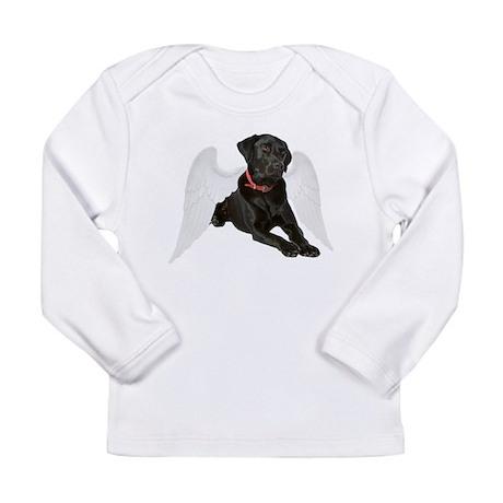 Black Lab Angel Long Sleeve Infant T-Shirt