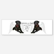 Black Lab Angel Sticker (Bumper)