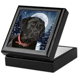 Dogs black labs Keepsake Boxes