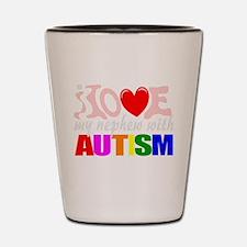 Love my autistic nephew Shot Glass